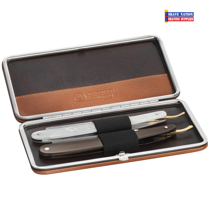 Dovo Travel Storage Case for 2 Straight Razors