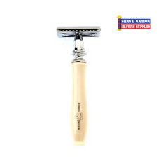 Edwin Jagger Closed Comb Chatsworth Razor Ivory/Chrome IVCSR