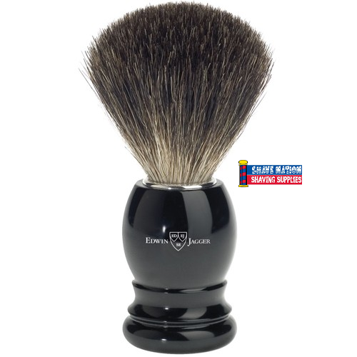 Edwin Jagger Ebony Handle Pure Black Badger Brush