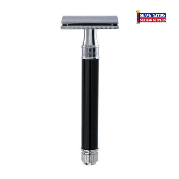 Edwin Jagger Closed Comb DEL8614BL Ebony Extra Long Razor