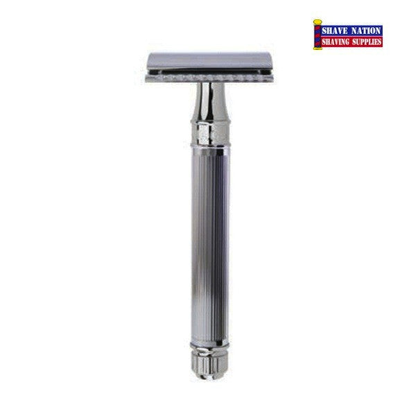 Edwin Jagger Closed Comb DEL89LI14BL Lined Extra Long Razor