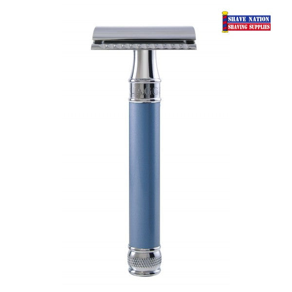 Edwin Jagger Closed Comb DELBE14BL Blue Safety Razor