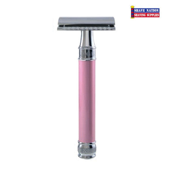 Edwin Jagger Closed Comb DELPI14BL Pink Safety Razor
