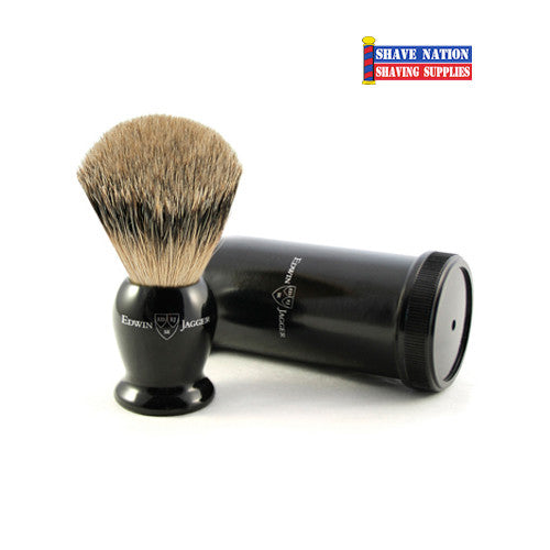 Edwin Jagger Ebony Best Badger Travel Brush