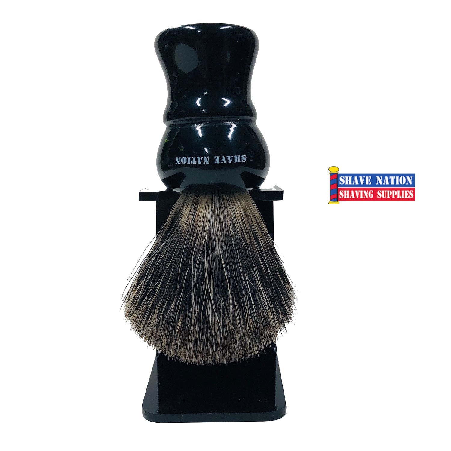 Shave Nation Ebony Handle Mixed Badger Brush