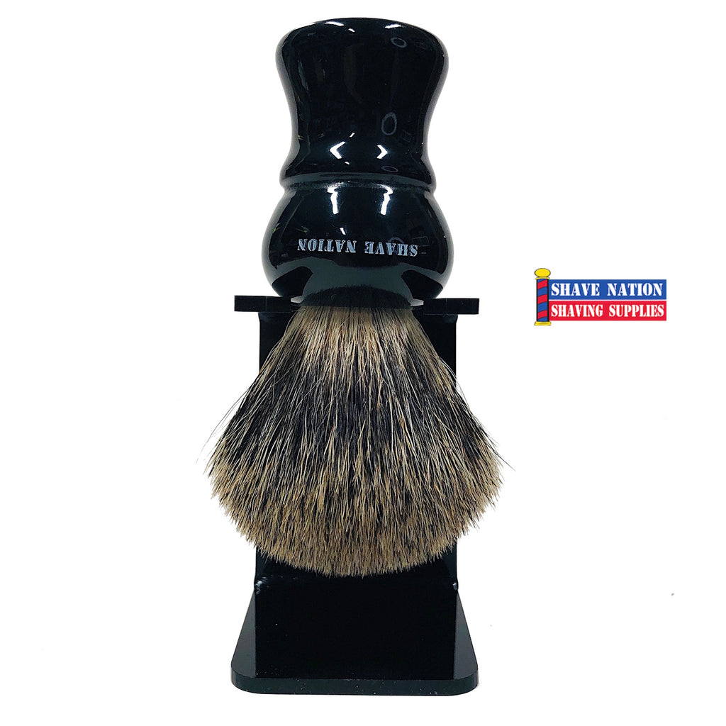 Shave Nation Ebony Handle Pure Badger Brush