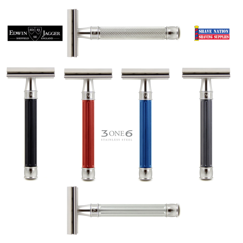 3ONE6 Edwin Jagger Stainless Steel Closed Comb Safety Razor