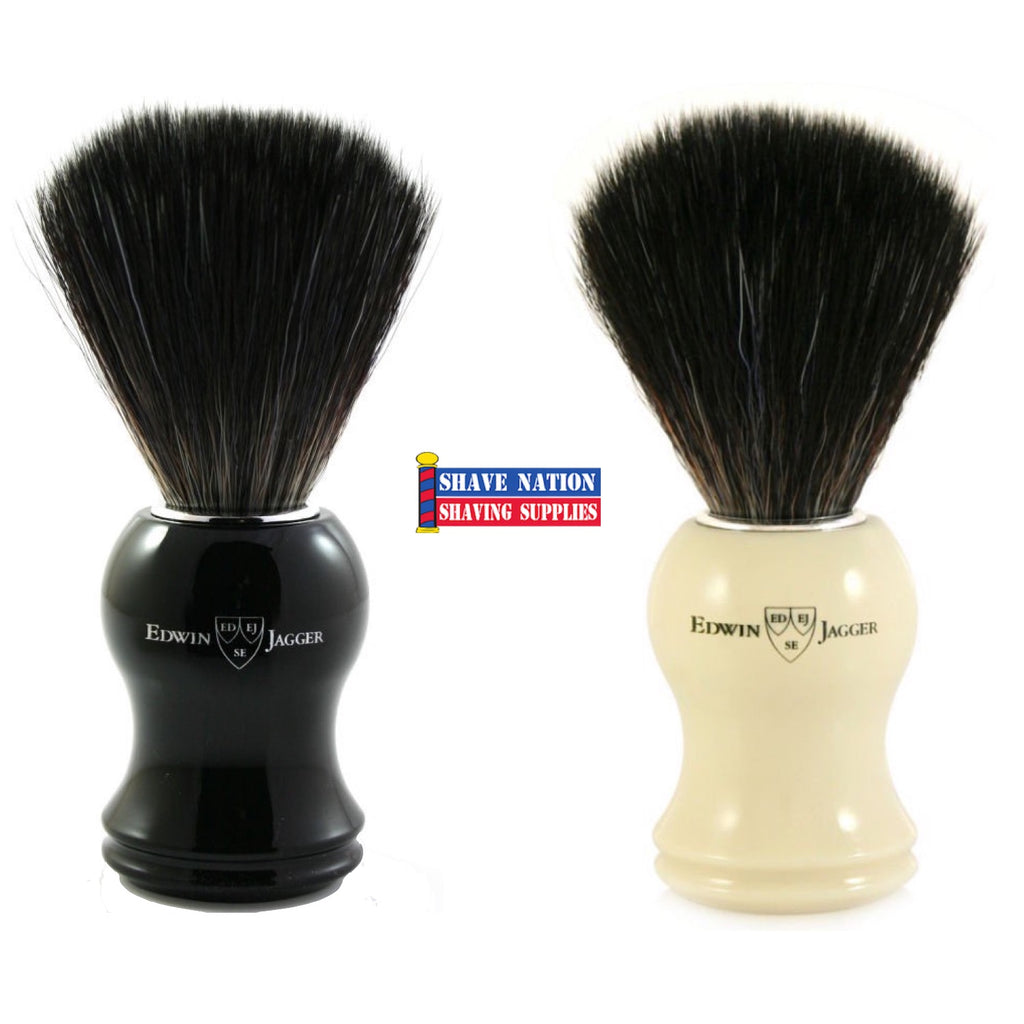 Edwin Jagger Shaving Brush Synthetic Black Bristles