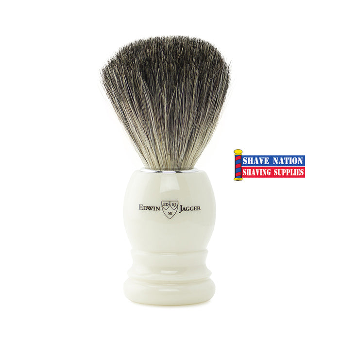 Edwin Jagger Pure Badger Ivory Handle Brush