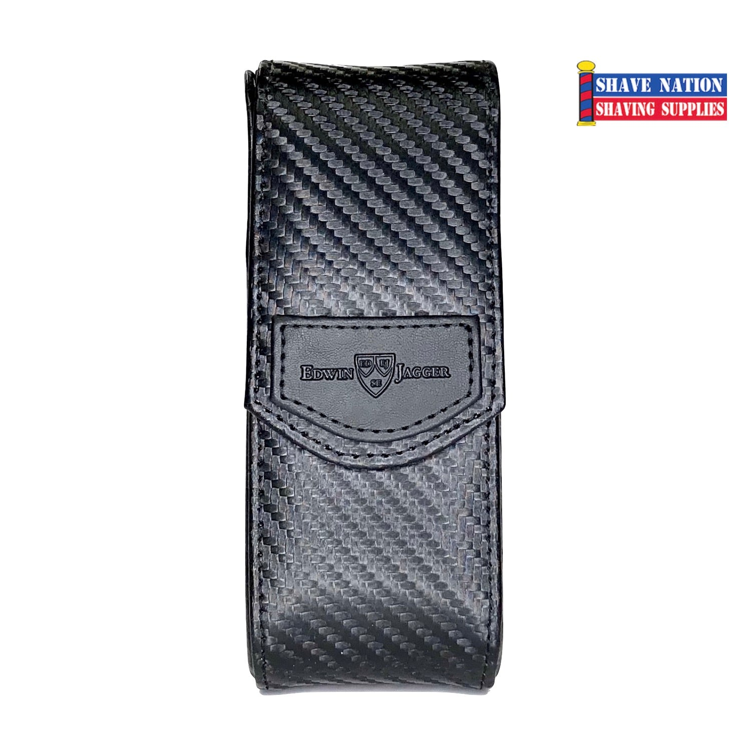 Edwin Jagger Cartridge Razor Case-Carbon Fibre Effect
