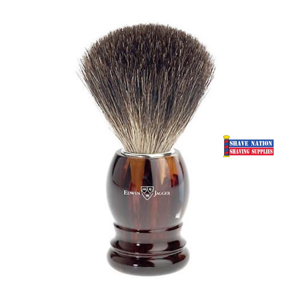 Edwin Jagger Synthetic Fibre Tortoise Handle Brush