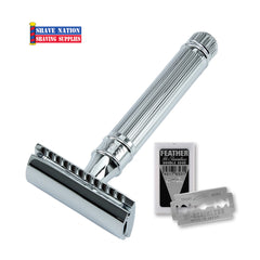 Edwin Jagger Closed Comb DE89LBL Lined Chrome Safety Razor