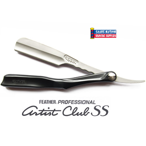 Feather Artist Club Folding Razor-Black