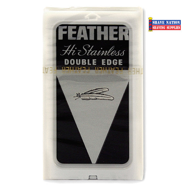 Feather Hi-Stainless DE Blades 5 Pk