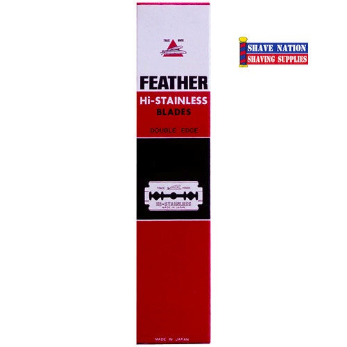 Feather Hi-Stainless DE Blades 20x5 100 Ct.