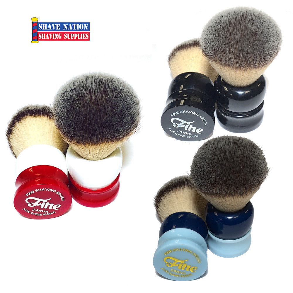 "Fine ""Stout"" Synthetic Angel Hair Shaving Brush"