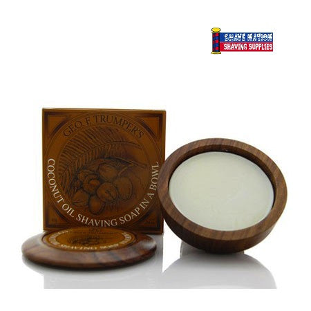 Geo F Trumper Shaving Soap in Bowl Coconut Oil