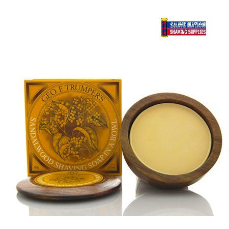 Geo F Trumper Shaving Soap in Bowl Sandalwood