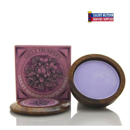 Geo F Trumper Shaving Soap Wood Bowl Violet