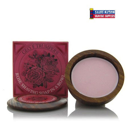Geo F Trumper Shaving Soap Wood Bowl Rose