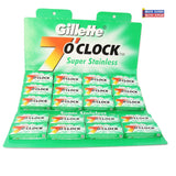 Gillette 7 OClock DE Blades GREEN 100ct