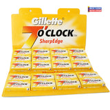 Gillette 7 OClock DE Blades YELLOW 100ct