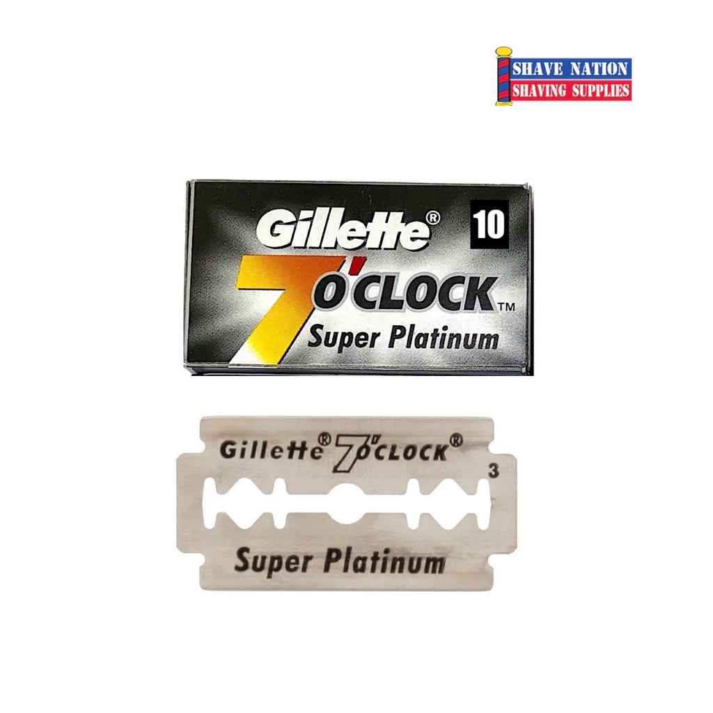 Gillette 7 O'Clock Super Platinum DE Blades 10Pk. Black