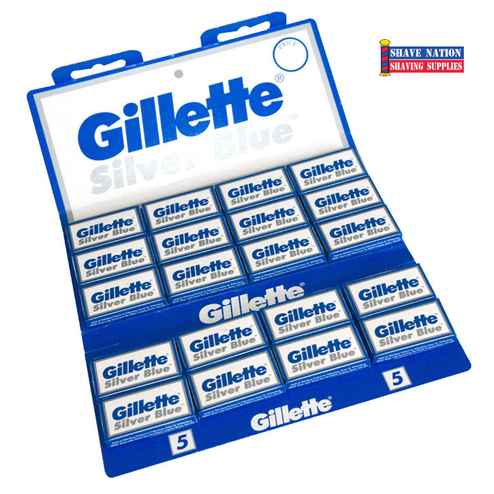 Gillette Silver Blue DE Blades 100ct