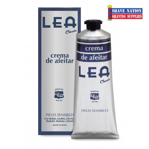 LEA Classic Shaving Cream in Tube from Spain