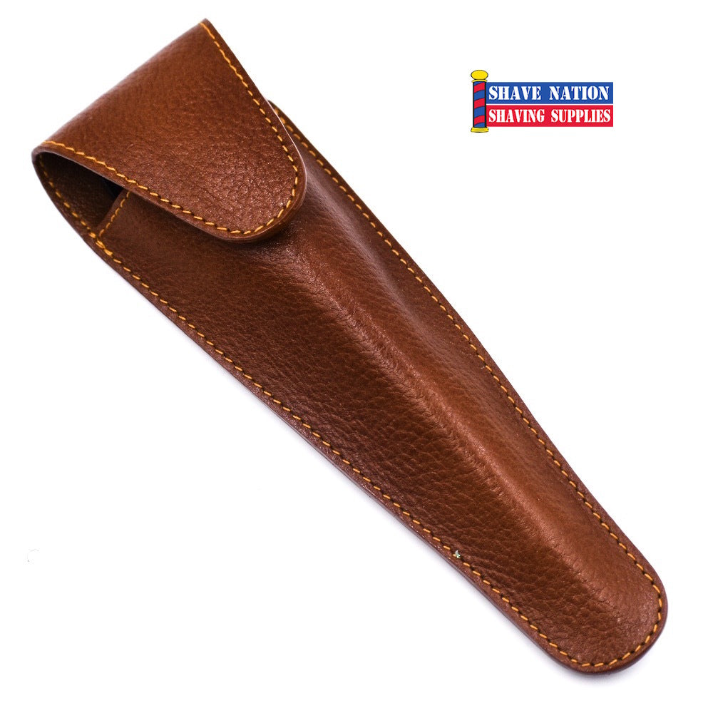 Parker Cartridge Razor Case Saddle Brown