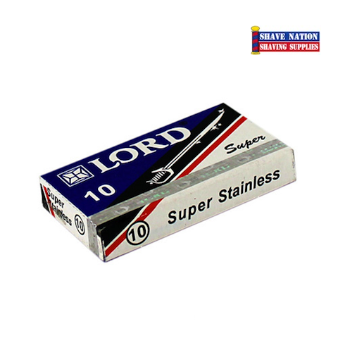 Lord Super Stainless DE Blades 10Pk.