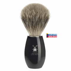 Muhle Fine Badger Brush Black