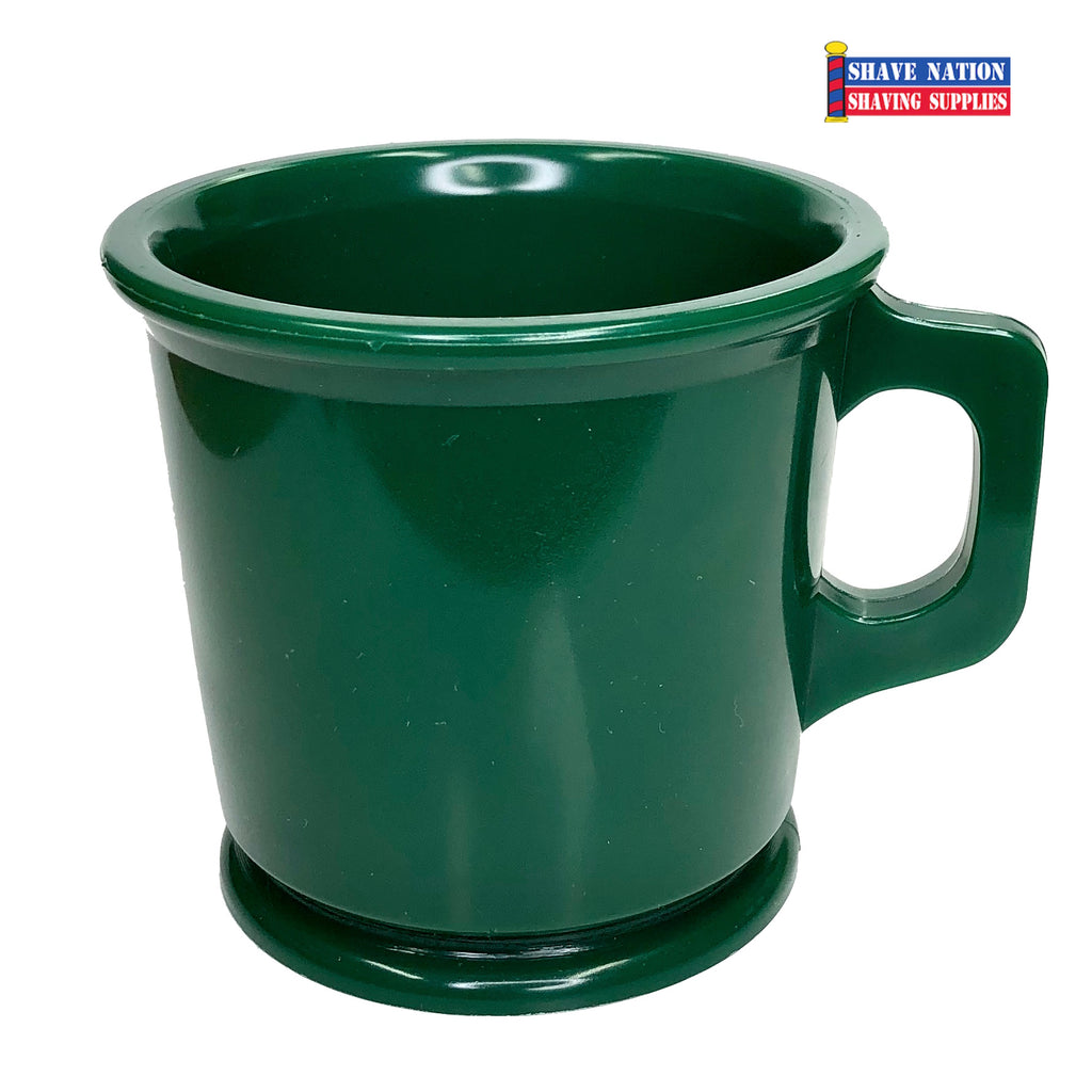Marvy Unbreakable Green Shaving Lather Mug
