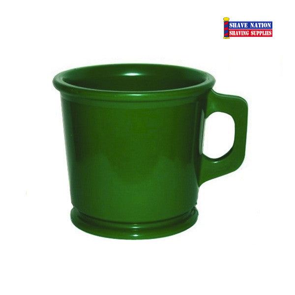 Marvy Unbreakable Shaving Lather Mug Green