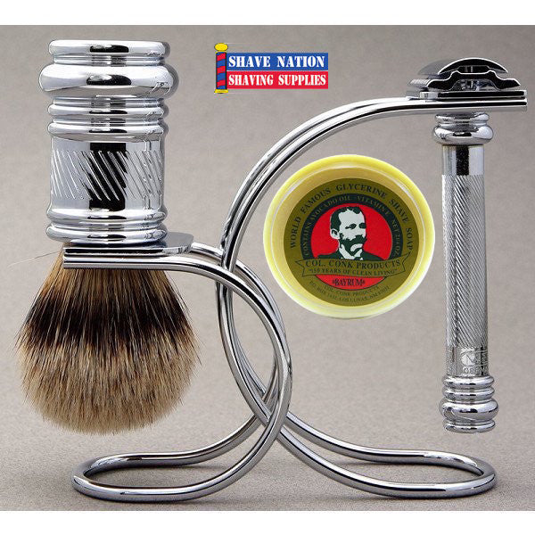 Merkur 39C Chrome Slant Bar Safety Razor Set