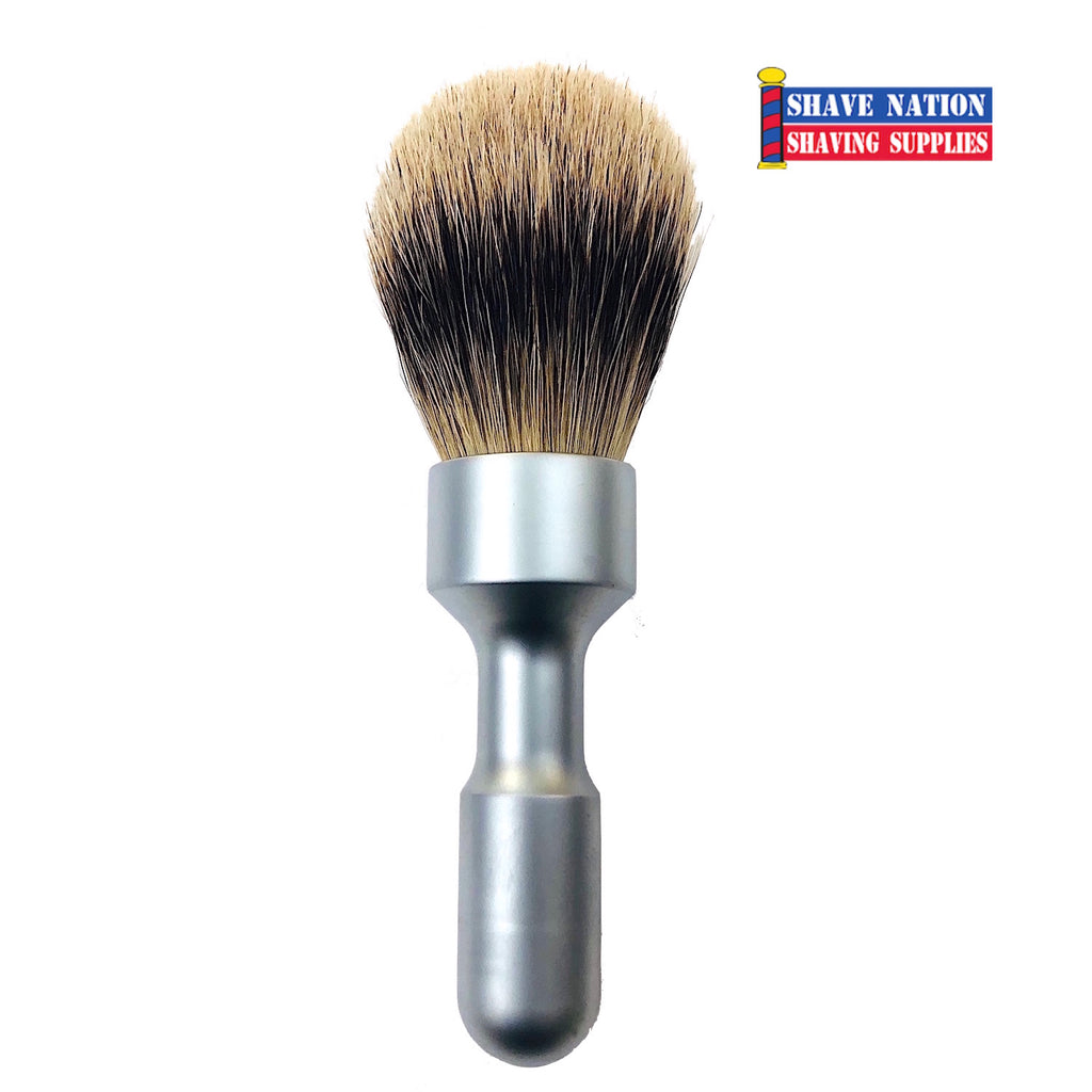 Merkur Futur Pure Badger Brush Satin Handle