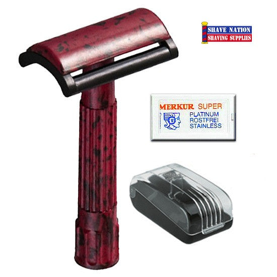 Merkur DE Safety Razor Flat Bar Bakelite 45