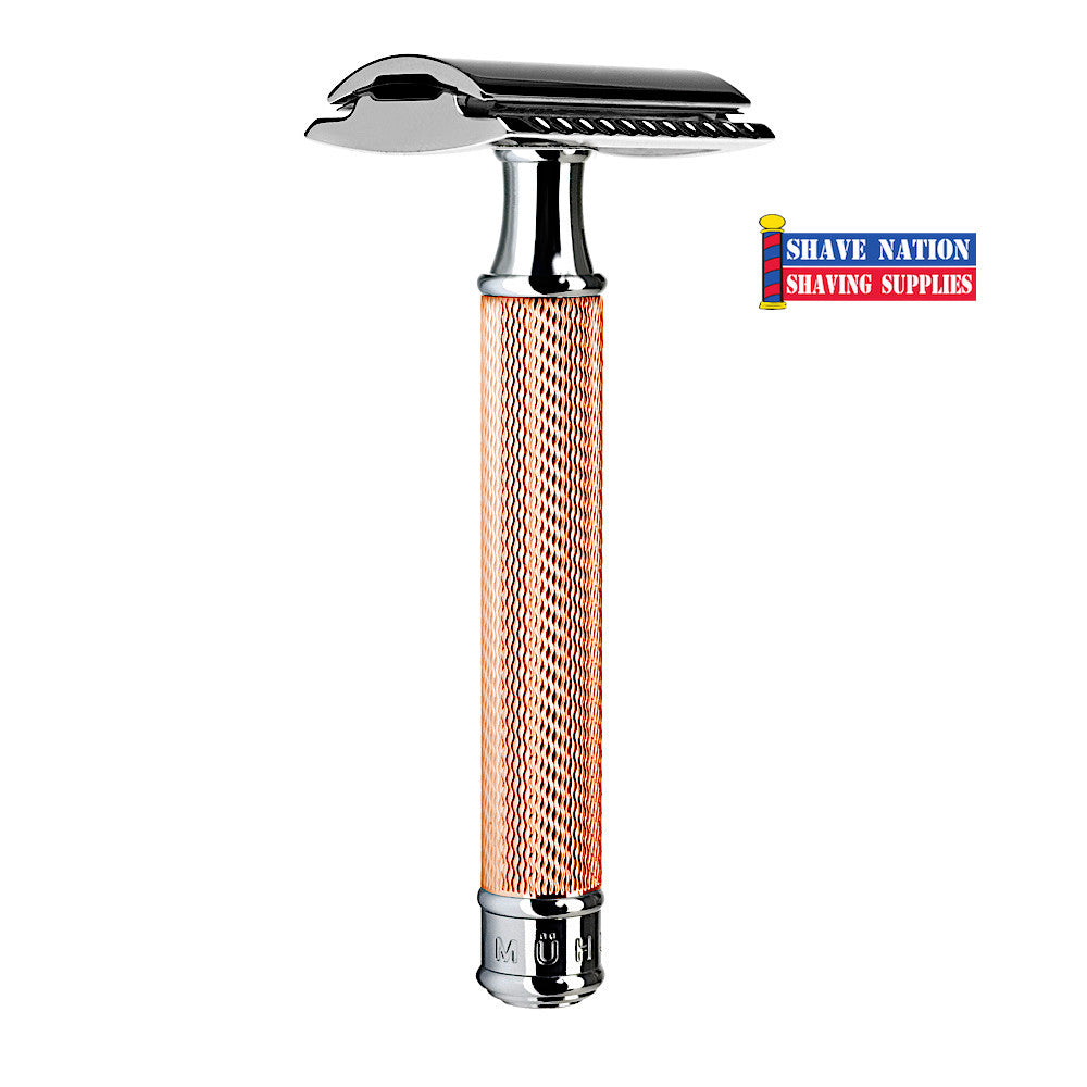 Muhle Safety Razor Closed Comb Rosegold R89