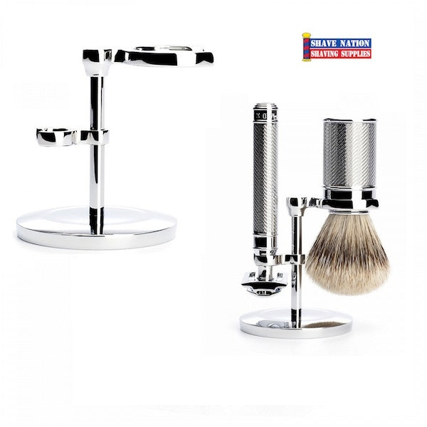 Muhle Compact Safety Razor & Brush Stand