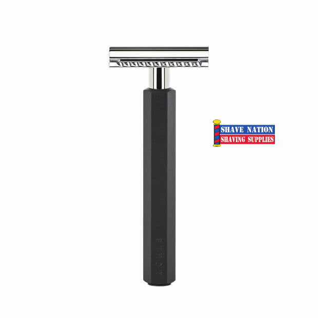 Muhle Hexagon Graphite Closed Comb Black Safety Razor RHXG