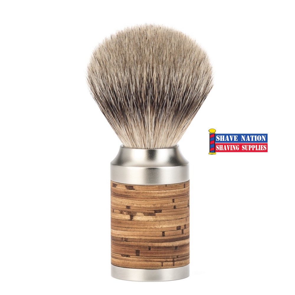 Muhle Rocca Birch Bark Silvertip Badger Shaving Brush