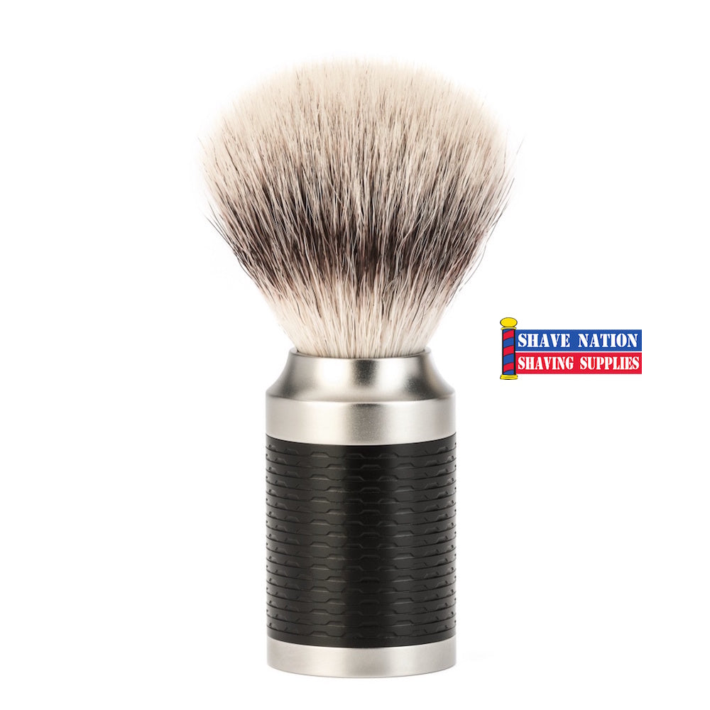 Muhle Rocca Silvertip Fibre Shaving Brush Black Handle