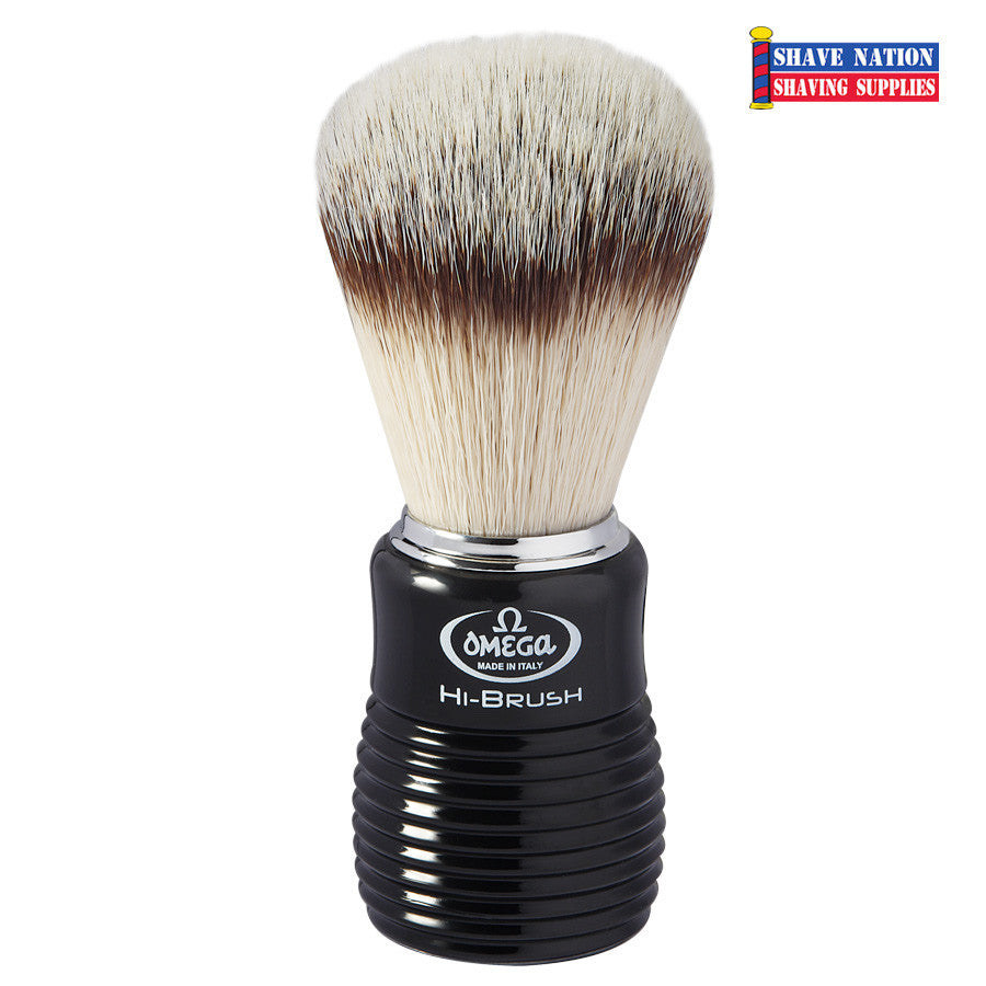 Omega Hi-Brush with Synthetic Bristles and Bee-Hive Handle