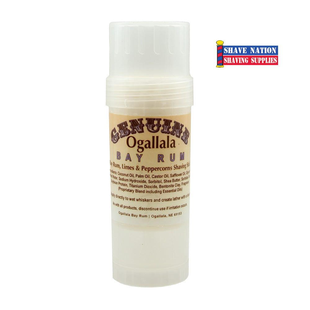 Ogallala Bay Rum Limes & Peppercorns Shaving Stick