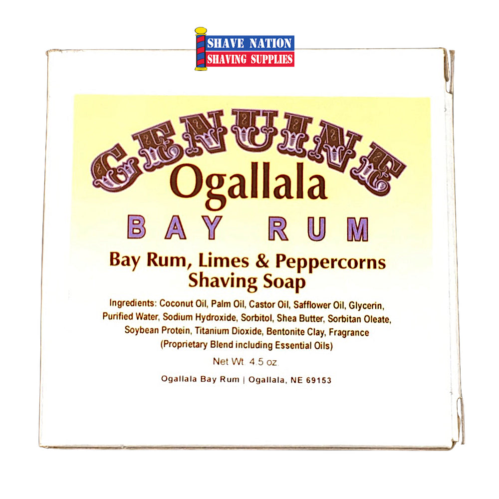 Ogallala Bay Rum Limes & Peppercorns Shaving Soap