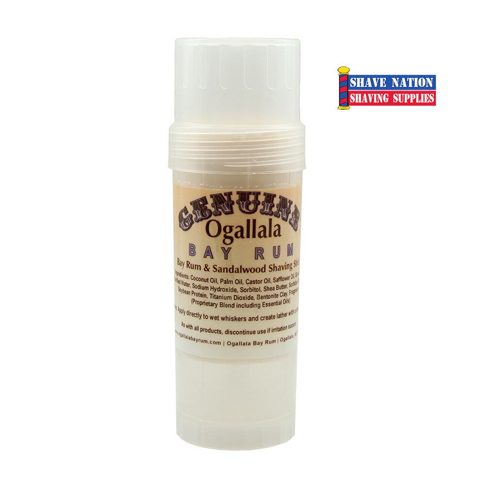 Ogallala Bay Rum & Sandalwood Shaving Stick