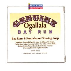 Ogallala Bay Rum & Sandalwood Shaving Soap