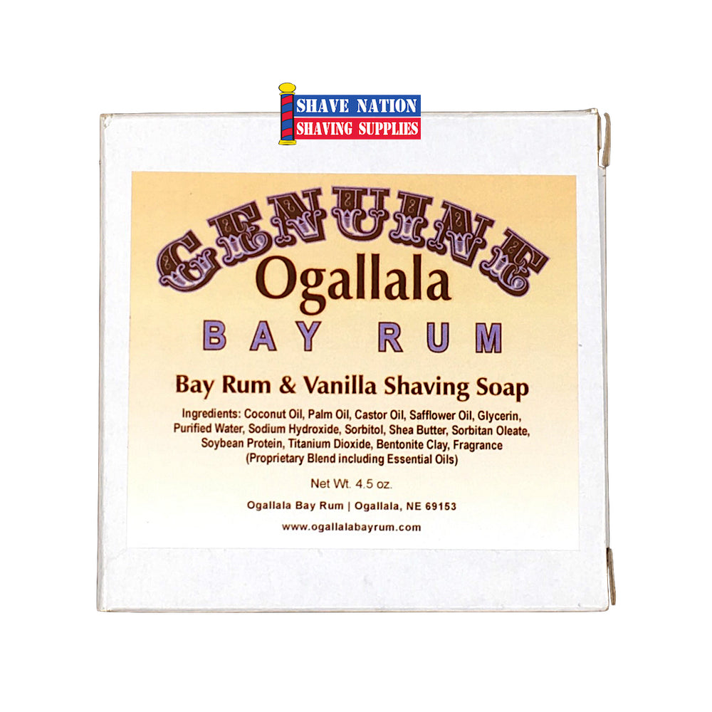 Ogallala Bay Rum & Vanilla Shaving Soap