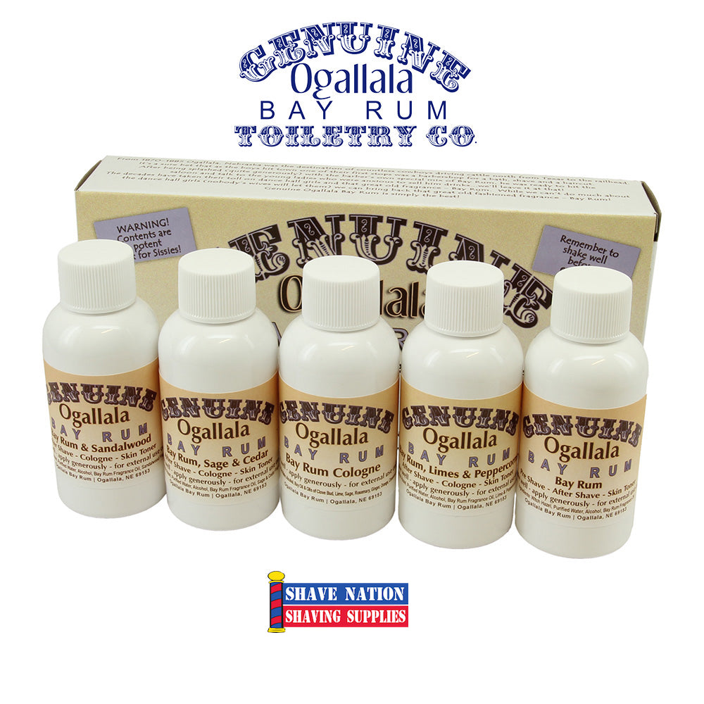 Ogallala Bay Rum Aftershave Bonanza Sampler Pack