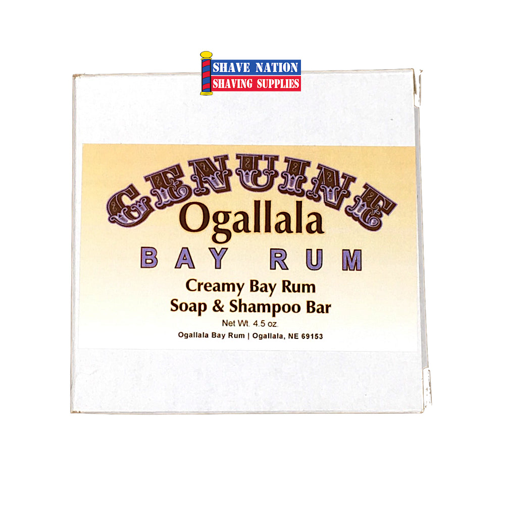 Ogallala Creamy Bay Rum Bath Soap and Shampoo Bar